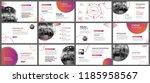 presentation and slide layout... | Shutterstock .eps vector #1185958567