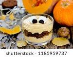 halloween monster dessert in... | Shutterstock . vector #1185959737