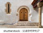 wooden door and gate of maricel ... | Shutterstock . vector #1185959917
