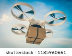 drone  quadcopter is delivering ... | Shutterstock . vector #1185960661