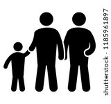 two brothers and their younger... | Shutterstock .eps vector #1185961897