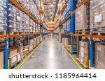 logistics warehouse interior   Shutterstock . vector #1185964414