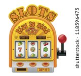 vector slot machine icon | Shutterstock .eps vector #118596475