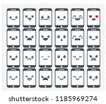 set of icons of emotions... | Shutterstock .eps vector #1185969274