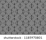 seamless pattern with striped... | Shutterstock .eps vector #1185970801