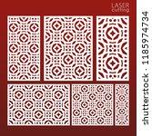 laser cut ornamental set panel... | Shutterstock .eps vector #1185974734