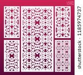 laser cut ornamental set panel... | Shutterstock .eps vector #1185974737