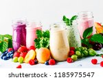 healthy and useful colorful... | Shutterstock . vector #1185975547