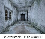 3d cg rendering of abandoned... | Shutterstock . vector #1185980014