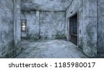 3d cg rendering of abandoned... | Shutterstock . vector #1185980017