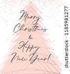 vector merry christmas and... | Shutterstock .eps vector #1185981277