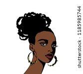 sketching portrait of young... | Shutterstock .eps vector #1185985744