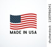 made in usa badge with usa flag ... | Shutterstock .eps vector #1185986041