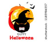 halloween pumpkin vector... | Shutterstock .eps vector #1185986557