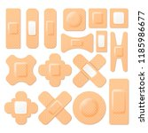 set of realistic adhesive... | Shutterstock .eps vector #1185986677