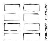set of black square grunge... | Shutterstock .eps vector #1185989554