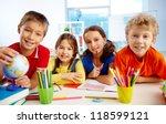 group of diligent... | Shutterstock . vector #118599121