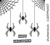 set of stylish paper spiders... | Shutterstock .eps vector #1185996457