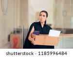 office employee being fired or... | Shutterstock . vector #1185996484