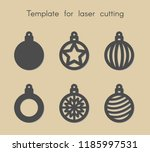 template for laser cutting. set ... | Shutterstock .eps vector #1185997531
