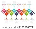 year planer  timeline... | Shutterstock .eps vector #1185998074
