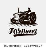 farming  agriculture logo or... | Shutterstock .eps vector #1185998827