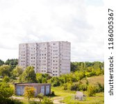 typical soviet block in east... | Shutterstock . vector #1186005367
