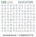 set of vector line icons of... | Shutterstock .eps vector #1186012174