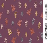 plant element repeat pattern.... | Shutterstock .eps vector #1186013281