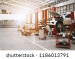 car repair station with soft... | Shutterstock . vector #1186013791