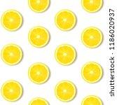 lemon isolated white background ... | Shutterstock .eps vector #1186020937