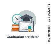 education concept  graduation... | Shutterstock .eps vector #1186022641