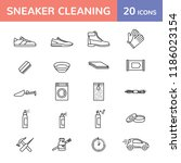 sneaker cleaning logo design... | Shutterstock .eps vector #1186023154