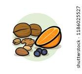 healthy high fibre diet food... | Shutterstock .eps vector #1186025527