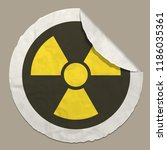 radiation hazard sign realistic ...   Shutterstock .eps vector #1186035361