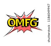 vector omfg speech bubble.... | Shutterstock .eps vector #1186049947