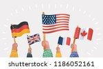 diversity of human hands... | Shutterstock .eps vector #1186052161