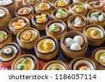 Close Up Dim Sum Chinese Food...