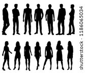 vector silhouettes men and... | Shutterstock .eps vector #1186065034