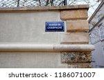 street road sign avenue de... | Shutterstock . vector #1186071007