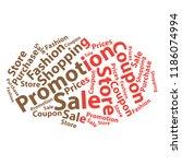 text cloud. sale wordcloud.... | Shutterstock . vector #1186074994