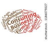 text cloud. business wordcloud. ... | Shutterstock . vector #1186075027