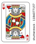 a playing card king of hearts... | Shutterstock .eps vector #1186077157