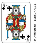 a playing card king of spades... | Shutterstock .eps vector #1186077181