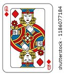 a playing card queen of... | Shutterstock .eps vector #1186077184