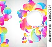 card background. abstract... | Shutterstock . vector #118607929
