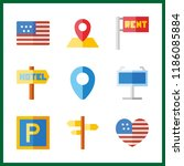 9 nation icon. vector... | Shutterstock .eps vector #1186085884
