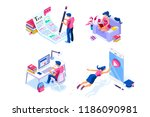 homework  knowledge or... | Shutterstock .eps vector #1186090981