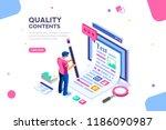 blog edit  post infographic... | Shutterstock .eps vector #1186090987