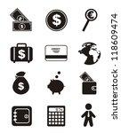money icons over white... | Shutterstock .eps vector #118609474